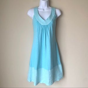 Tommy Bahama Blue Cotton and Linen Dress